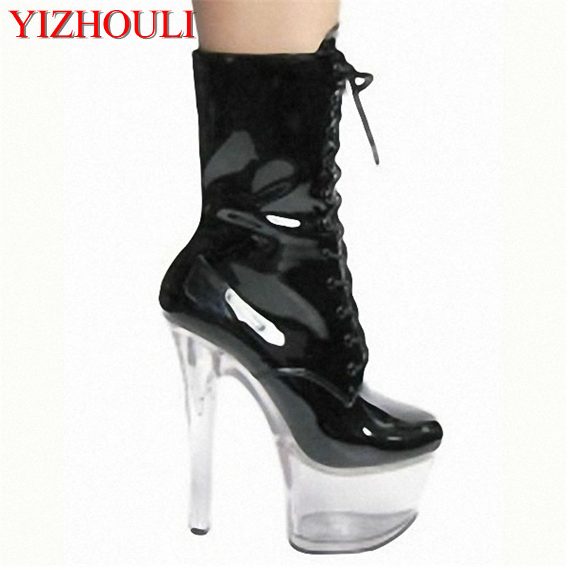 Pu dames Ultra Chaussures Bottes 2 Cm Couleurs Cuir Noir Talon À Lacets Pompes De Bottes Cheville forme plate Haute 15 Chaussures Femmes mode Arrivé argent Pnw0O8k