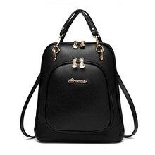 Bagages et sacs 2016 femmes sac à dos 9 Couleur sacs à dos en cuir femmes sac sacs d'école sac à dos femmes sacs de voyage de Sac À Dos bolsas