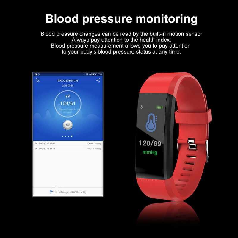 Kebidu עמיד למים פדומטר הפעלת לחץ דם צג קצב לב כושר Tracker מד צעדים ריצה מונה מד צעדים