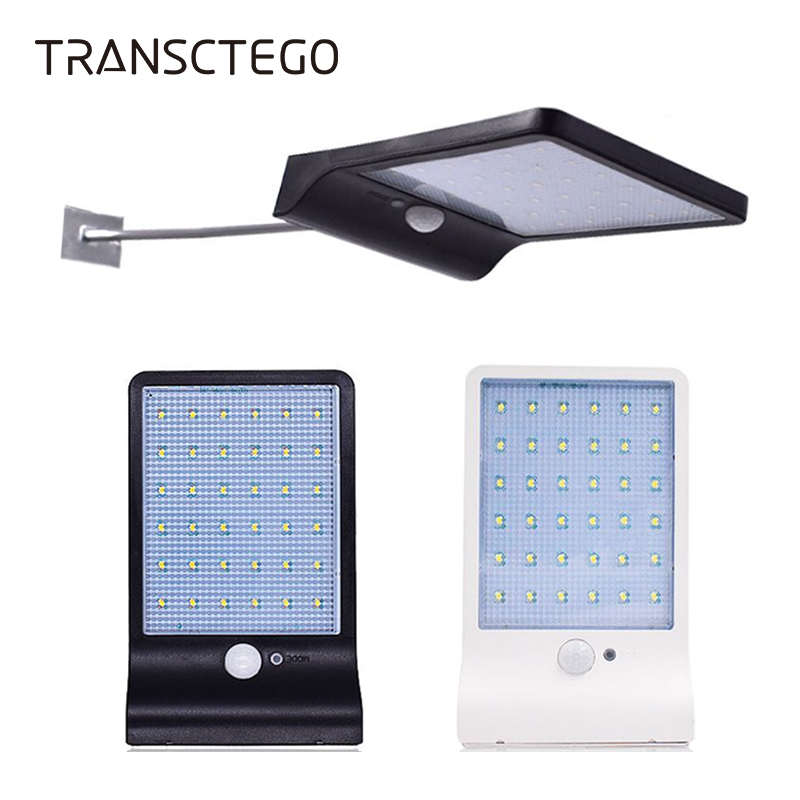 US 36 LED Solar Power Light PIR Motion Sensor Outdoor Pathway Wall Street Lamp