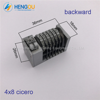 2 PCS Full Steel 6 Digits Numbering Machine Backward For Letterpress Heidelberg Windmill Number Coding 4X8