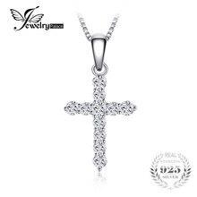 Jewelrypalace 0.7ct zirconia kruis hanger ketting 925 sterling zilver mode-sieraden hanger cadeau exclusief ketting