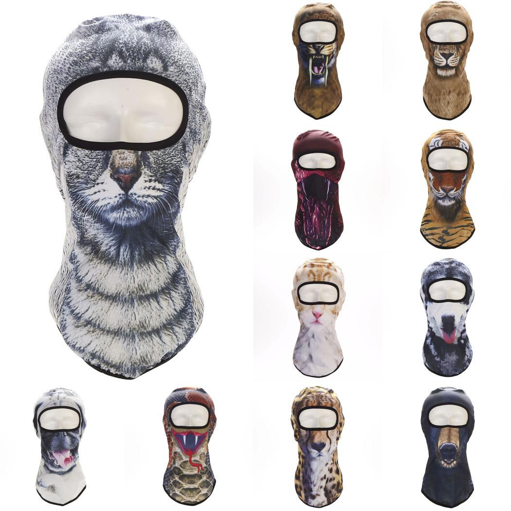FäHig Neueste Beliebte 3d Drucken Tier Ski Hüte Outdoor Fahrrad Radfahren Maske Volle Gesicht Winter Warme Sturmhauben Katze Hund Tiger Ect Maske