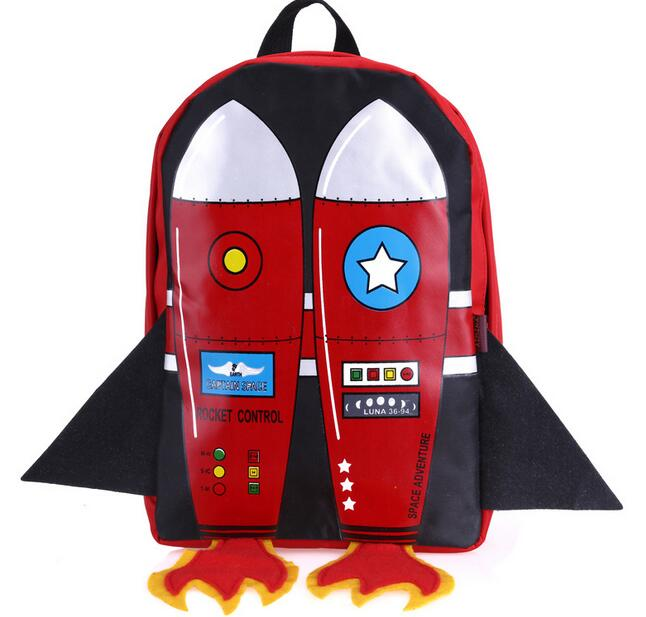 Joyloading 3D Cartoon Flying Rocket Design Kids Backpack Students Preppy  Schoolbag Children Pack