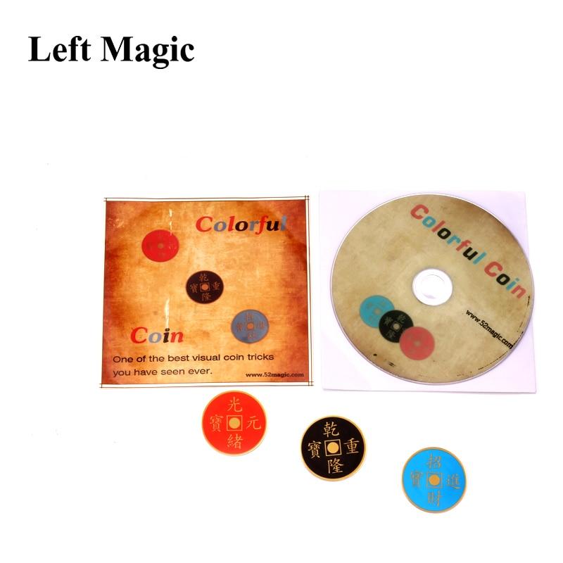Colorful Coin 2.0 (Morgan Version) Magic Trick Flying Morgan Coins Copper Magnetic Trick Magic Props Mental Magic-Vintage magic j b bobo modern coin magic