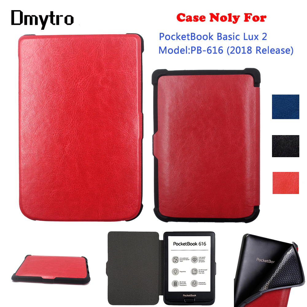 Advanced TPU Soft Case for <font><b>pocketbook</b></font> <font><b>616</b></font> , Ultra Slim ebook magnetic Smart PU Leather cover for <font><b>PocketBook</b></font> <font><b>616</b></font> Basic Lux2 image