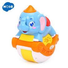 HUILE TOYS 3105C Baby Toys Musical Sliding Animals Elephant with Lights & Music Electronic Toys Pets Toys for Children Boy Gifts(China)
