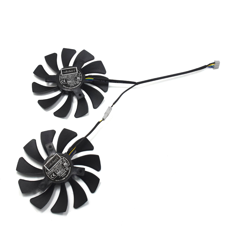 New Original HA9010H12F-Z Graphics Card Cooling Fan For MSI GeForce GTX 1050 Hurricane GTX 1060 Hurricane 6G GDDR 85mm fan image
