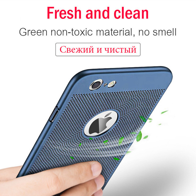 Ultra Slim Phone Case Iphone 6 6s 7 8 Plus Hollow Heat Dissipation Cases Hard Pc 5 5s Se Back Cover Coque X S Max