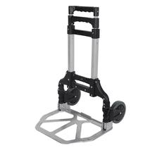 Aluminium składany wózek ręczny bagaż podróżny Utility wózki Heavy Duty wózki tanie tanio 170 lbs KM0730 Black Orange Hand Truck Aluminum EVA 7 87 X 11 81 inch 7 87 X 7 87 inch 5 9 X 4 33 inch 4 72 inches 15 36 X 24 8 X 1 97 inch