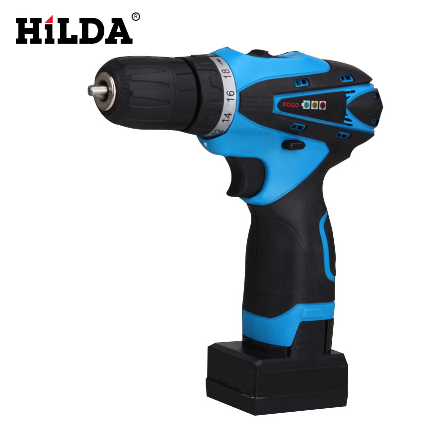 ФОТО HILDA  25V Rechargeable Lithium Battery Cordless screwdriver hand electric drill household electric screwdriver