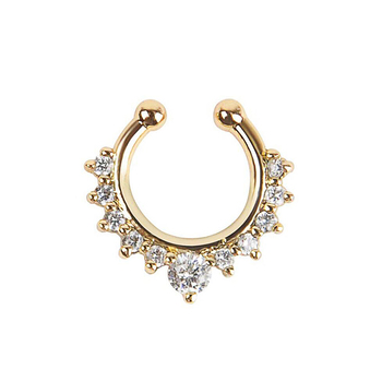 New Fashion Vintage Clip on Earrings Crystal Ear Cuff Non Pierced Earrings Nose Ring 1
