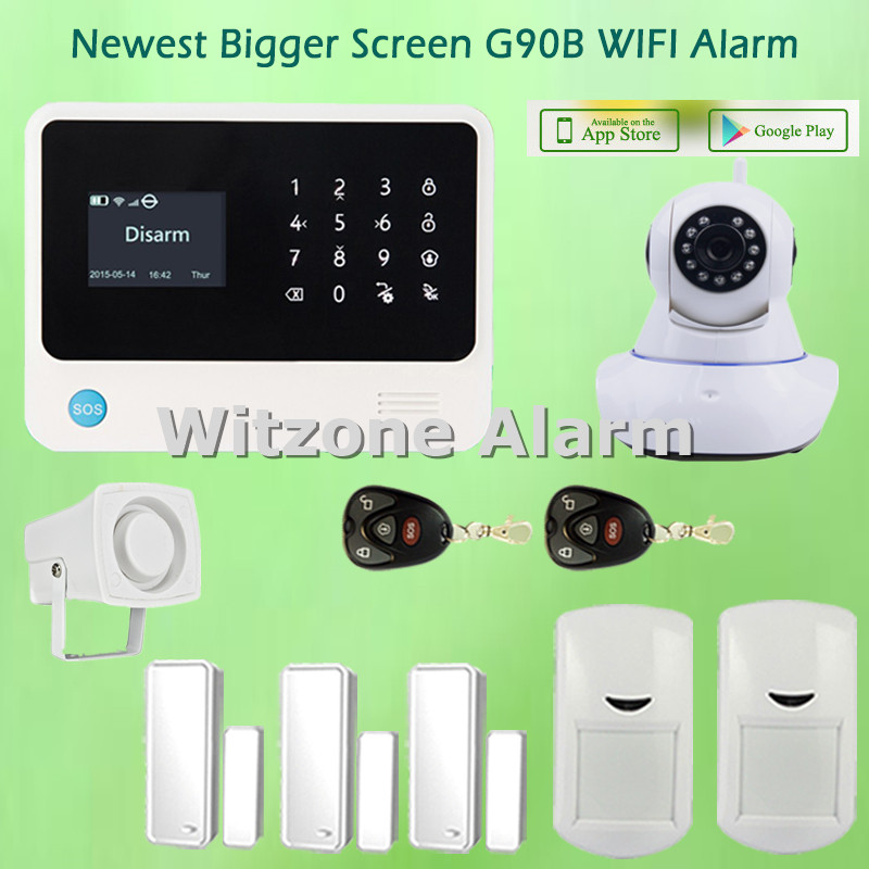 Hot Selling WIFI GSM Alarmas Casas Android IOS APP Control Home Alarme Systems with Compatible WIFI Wireless IP Camera детская игрушка new wifi ios