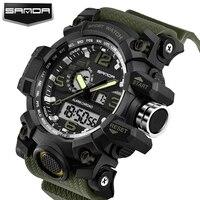 2017 New Shock Men Sports Watch Military Army Analog Digital LED Electronic Quartz Wristwatches 50M Waterproof