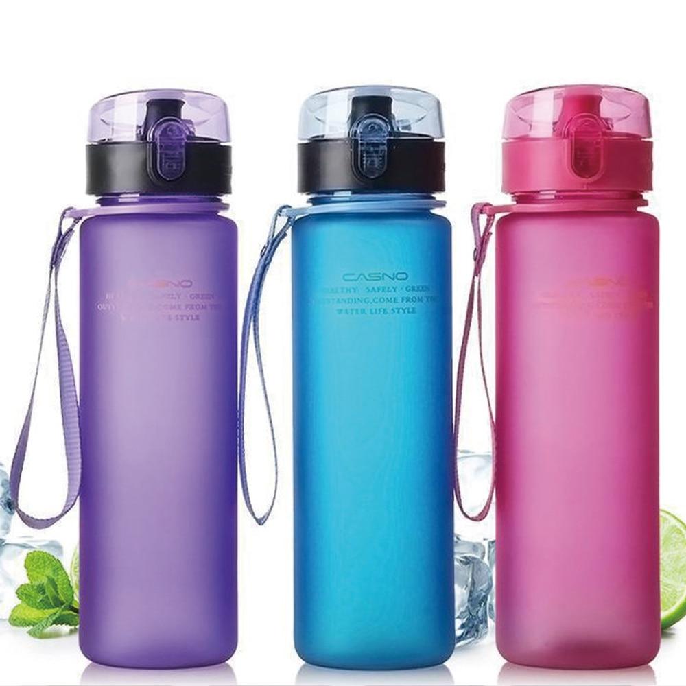 400ml / 560ml Leak Proof Sports Water Bottle Travel Hiking Portable Space Bike Cycling Camp Scrub BPA Free Water Bottles