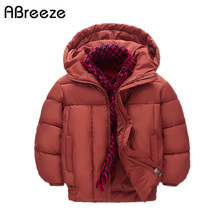 New autumn winter children's down parkas 3Y 6Y 10Y big child warm outerwear coats hooded cotton lining down for boys & girls