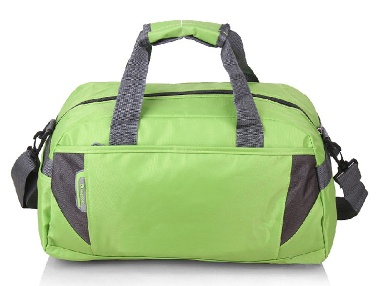 Custom Green Color Durable Classical Style Custom Promotional Travel Bags