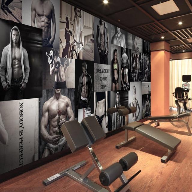 custom 3d boxing gym wallpaper modern minimalist decoration wallpaper sports yoga dance martial. Black Bedroom Furniture Sets. Home Design Ideas