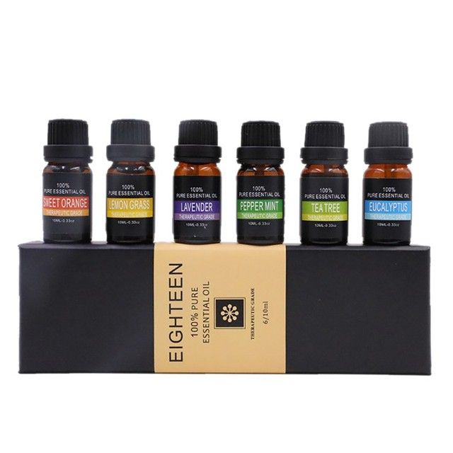 6pcs Natural Pure Plant Mage Essential Oil Set Herbal Aromatherapy Both Face And Body