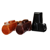 New Retro Vintage PU Leather Camera Case Bag For Nikon D90 With 18 55mm 18 105mm
