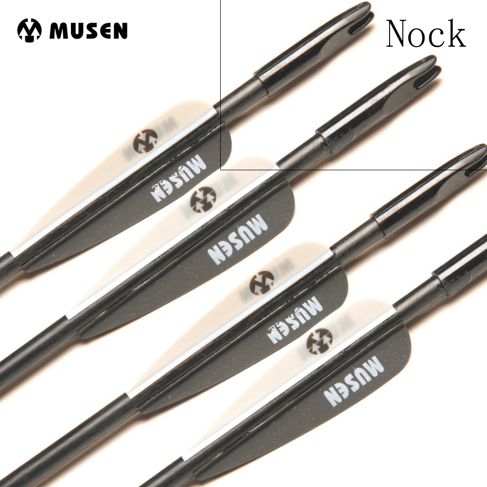 50pcs/lot Black Fiberglass Arrow Nocks Internal For Outer Diameter 6mm Fiberglass Arrow Shaft Hunting