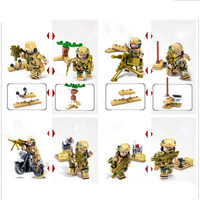 Kaizhi 82015 16 wolf field team 16 military special police building children's educational DIY model kids educational toys