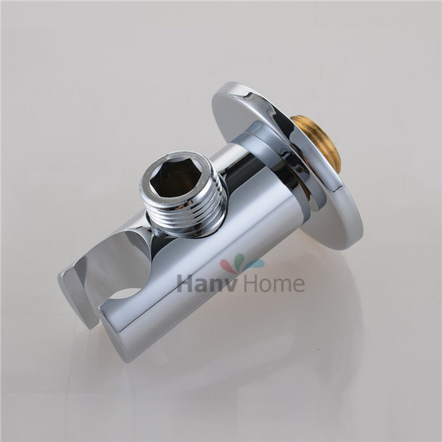 Brass Handheld Shower Holder Support Rack with Hose Connector Wall Elbow Unit Spout water inlet angle valve