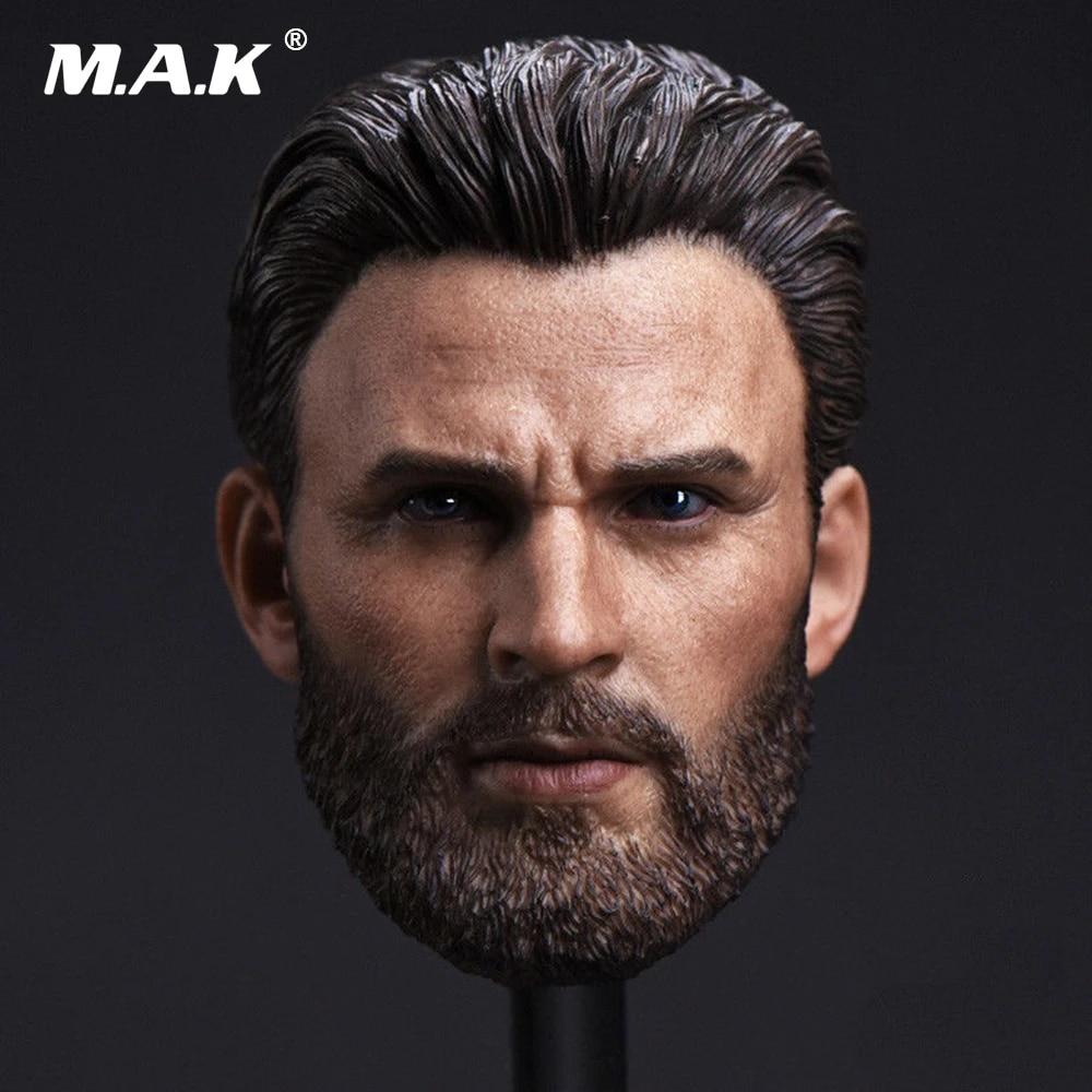 1//12 Captain American Head Sculpt The Avengers 3 Fit 6/'/' Male Figure Body Toy