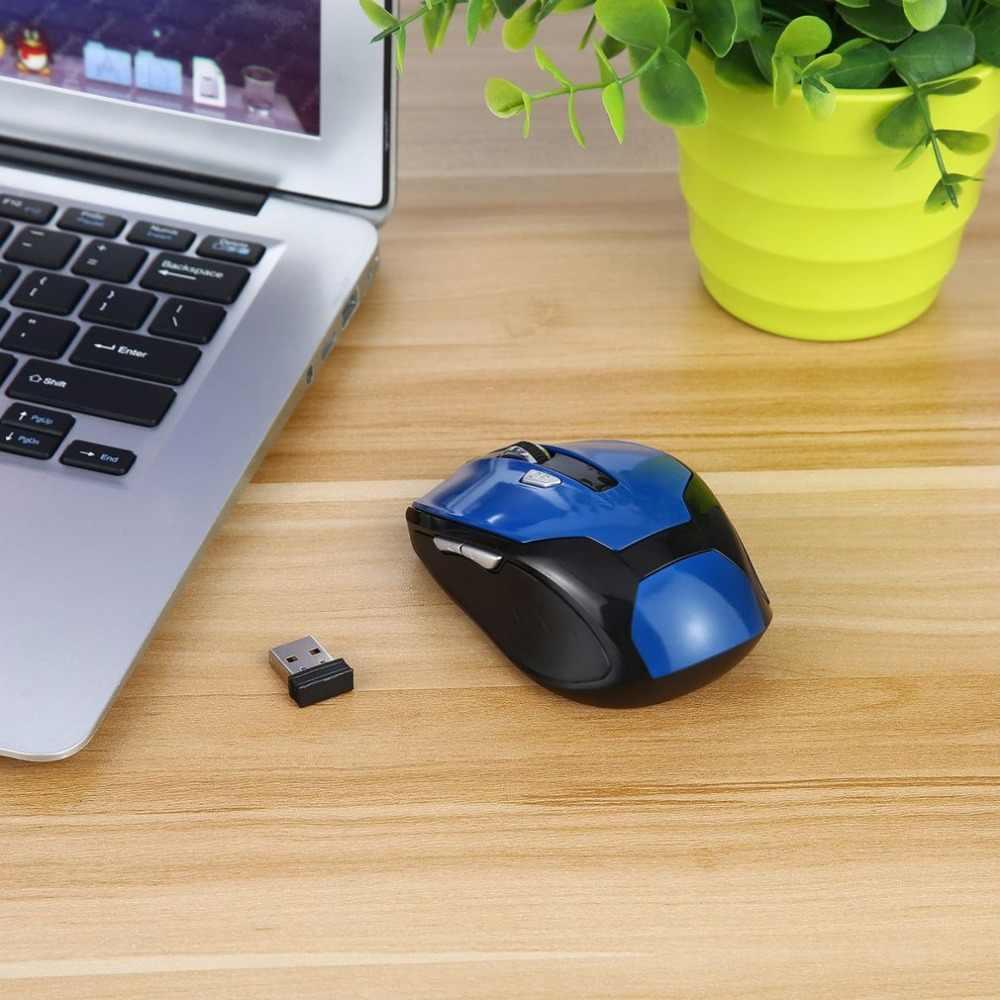 Najnowszy bezprzewodowy bezprzewodowy mysz optyczna mysz USB odbiornik 10M 2.4GHz 1200-1600DPI mysz do gier mysz komputerowa dla Pro Gamer