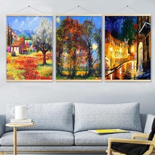 Landscape Poster Painting By Numbers Room Wall Art Pictures Hanging Paintings On The Wall Canvas Painting Shaft Scroll Painting