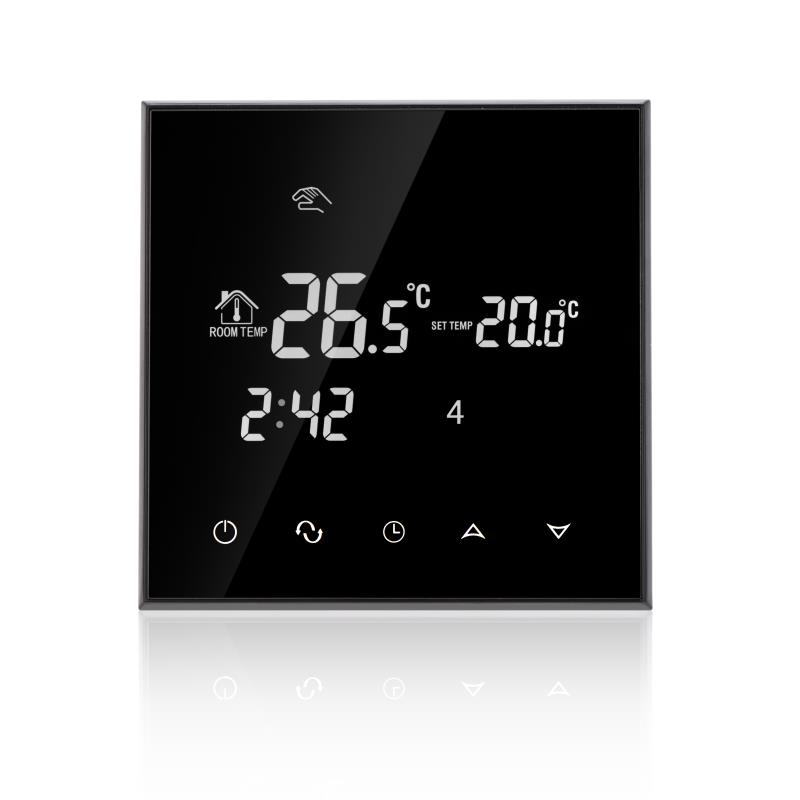 230VAC Colorful Letter Negative Screen 5+2 Weekly Programmable 16A Electric Underfloor Heating Room Thermostat without Wifi programmable thermostat heating temp wifi lcd touch screen temperature control underfloor 16a 230v