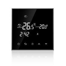 Купить с кэшбэком 230VAC Colorful Letter Negative Screen 5+2 Weekly Programmable 16A Electric Underfloor Heating Room Thermostat without Wifi