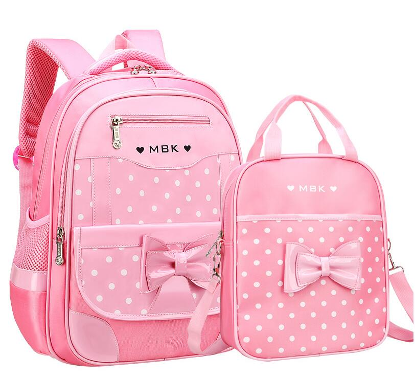 Children School Bags Girls Backpack Kids Dot Printing Backpacks Set Schoolbag Waterproof Primary School Backpack Mochila Escolar