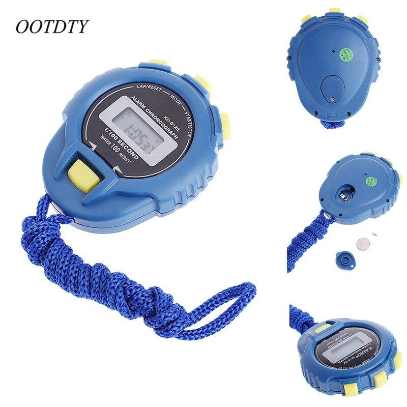 Werkzeuge Timer Professioneller Verkauf Ootdty Handheld Digital Lcd Sport Stoppuhr Chronograph Zähler Timer W/strap Angemessener Preis