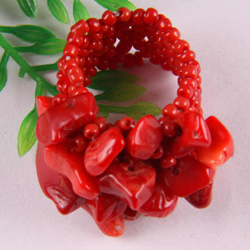 Coral/Lapis/ควอตซ์/Carnelian/คริสตัล/Sodalite/Howlite/โอปอล/โกเมนยืดแหวนยืดขนาด 8-9 เครื่องประดับสำหรับของขวัญผู้หญิง