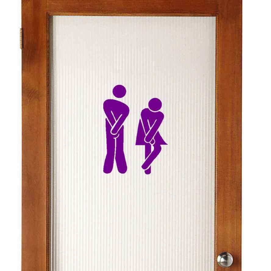 Có thể tháo rời hiện đại Dễ Thương Người Đàn Ông Người Phụ Nữ Nhà Vệ Sinh Nhà Vệ Sinh WC Sticker Gia Đình TỰ LÀM đề can Trang Trí cho tường nhà bếp sticker #3 $