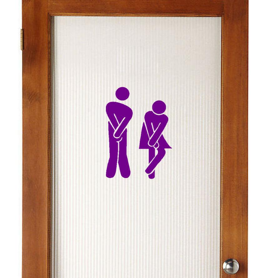 Removable modern Cute Man Woman Washroom Toilet WC Sticker Family DIY Decor decals for kitchen wall sticker nt0