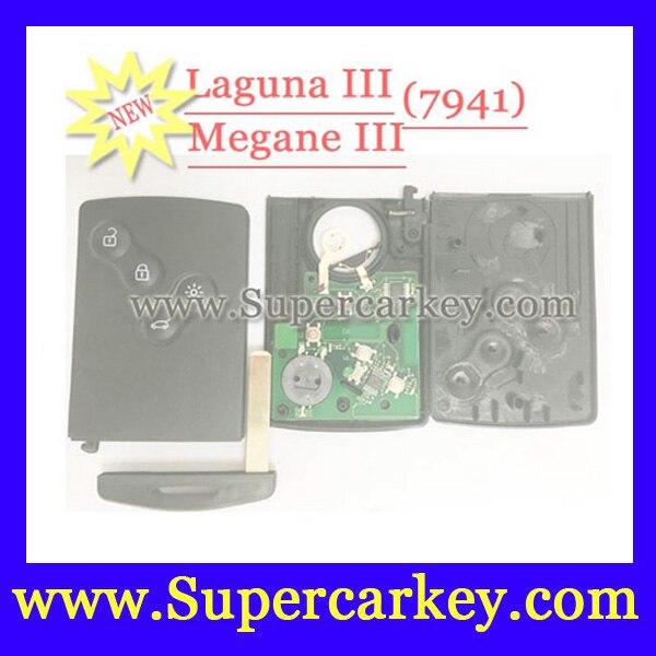 imágenes para Nuevo Envío Libre (1 unids) Tarjeta con pcf7941 chip 433 MHZ remoto de 4 Botones para renault Laguna III Megane III Tarjeta Inteligente antes de 2016