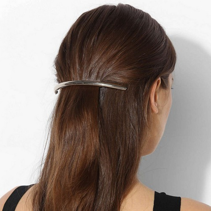 1 PC Women Silver Gold Metal Leaf Hair Clip Hairpin Barrette Hair Accessories Lady Headband Hair Pin 12cm Long Hair Jewelry men beaded bracelet red