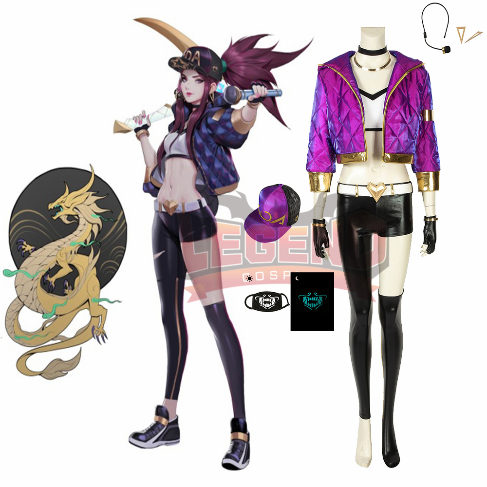 Cosplaylegend Game lol KDA Akali Cosplay adult costume all size custom made outfit without shoes