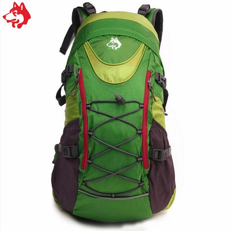 Купить с кэшбэком 35L Blue/Green/Red Style outdoor sporting Hiking Grade camping bag popular student mountaineering Backpack