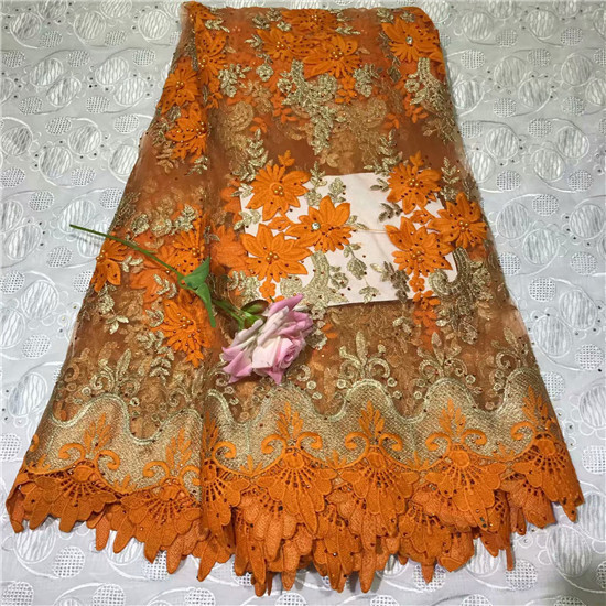 2019 New Design African Lace Fabric High Quality Nigerian Lace Fabric Tissu Africain Guipure Embroidery French