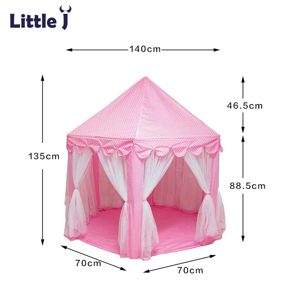 Little J Girl Princess Pink Castle Tents Portable Children Outdoor Garden Folding Play Tent Lodge Kids Balls Pool Playhouse-in Toy Tents from Toys u0026 Hobbies ...  sc 1 st  AliExpress.com & Little J Girl Princess Pink Castle Tents Portable Children Outdoor ...