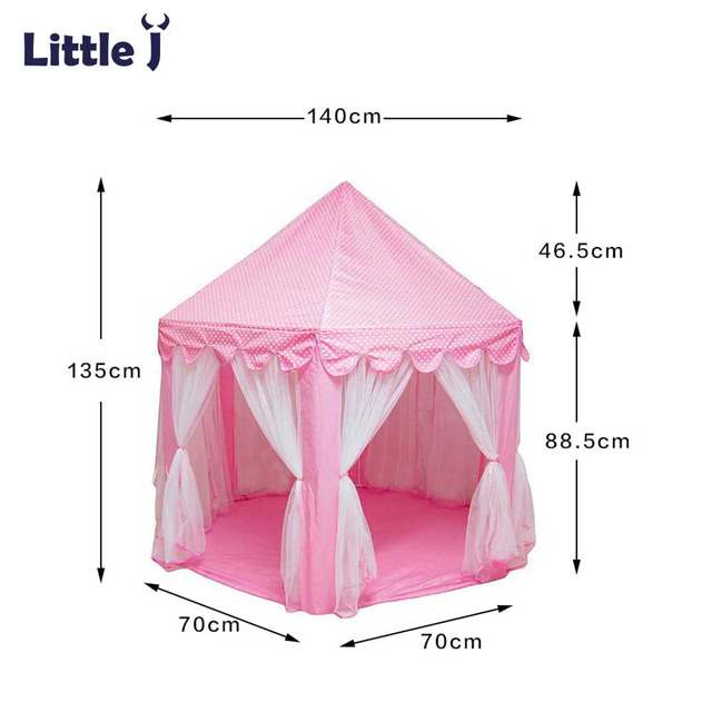 Little J Girl Princess Pink Castle Tents Portable Children Outdoor Garden Folding Play Tent Lodge Kids Balls Pool Playhouse  sc 1 st  Aliexpress & Online Shop Little J Girl Princess Pink Castle Tents Portable ...