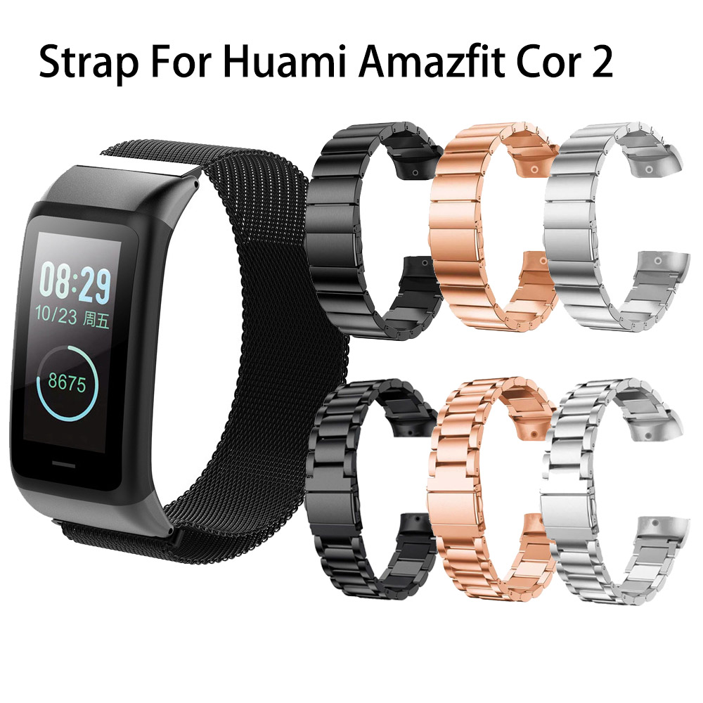 Millanses Watch <font><b>Strap</b></font> For Huami <font><b>Amazfit</b></font> <font><b>Cor</b></font> <font><b>2</b></font> Watch Nylon Magnetic Metal Stainless Band For <font><b>Amazfit</b></font> <font><b>Cor</b></font> <font><b>2</b></font> Watchband image