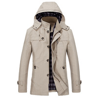 Men's Cotton Overcoat PLus Size 5XL British Style Slim Fit Trench Coat Long Man New Spring 2018 Windbreaker Jacket&Coat 1311