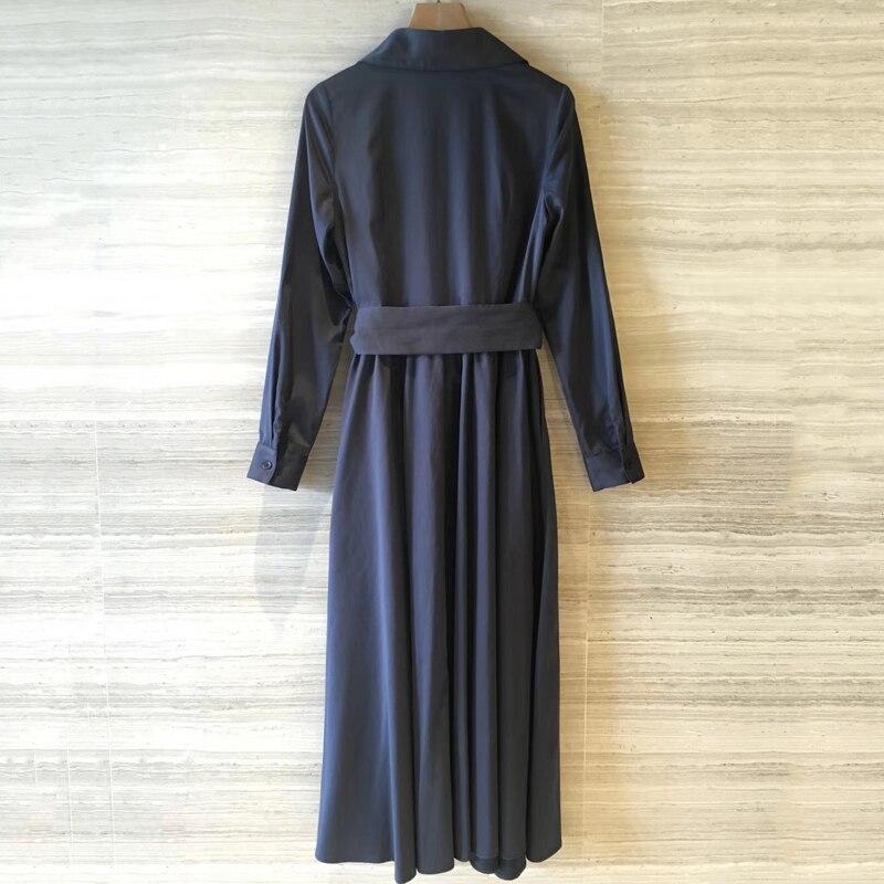 f474bd1df06 Mit A Langarm Mode Kleid Sommer line 2019 Elegante Schärpe Lange Neue Frauen  qFZTxT