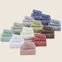 100% Cotton Pure color 3 Pcs Towel Sets Bath Towels for Adults Luxury Brand High Quality Soft Face Towels Variety of colors