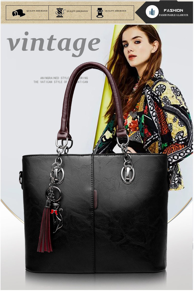 9f6b31f1770 Luxury Women Designer 2018 Big Ladies Solid Shoulder Bag Outlet Europe  Leather Handbag