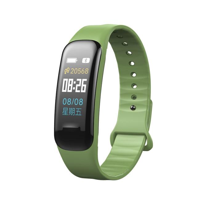 Bluetooth C1 Plus Kolor LCD Inteligentna bransoletka Tlen krwi - Męskie zegarki - Zdjęcie 2
